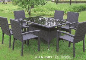 Wicker Dining Furniture , JHA-007