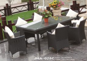 Indoor Outdoor Wicker Dining Set  , JHA-028C
