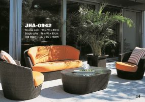 Saffron Wicker Sofa Set , JHA-0942