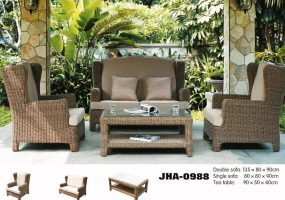 Patio Leisure Classic Rattan Sofa Set  , JHA-0988