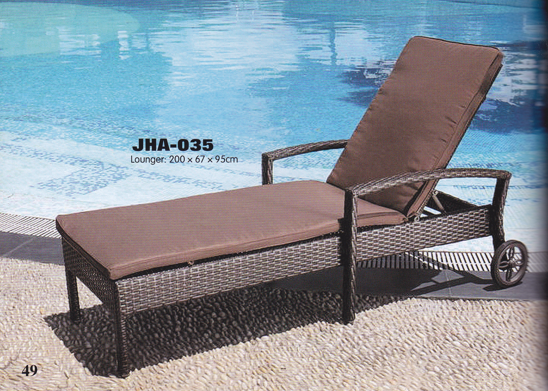 Swimming pool furnitures