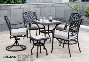 Fiori Cast Iron Dining Set , JHA-650