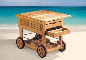 Classic Drinks Teak Wood Trolley HC-104