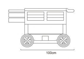 Teak Trolley