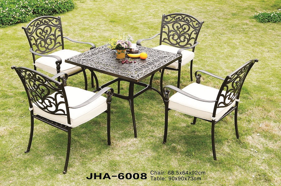 Delima Cast Iron Square Leisure Dining Set