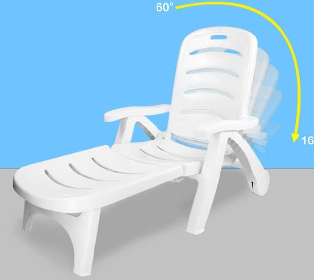 Victron White Sun Lounger Cum Chair