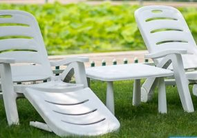 Victron White Sun Lounger Cum Chair,  JHA-4099
