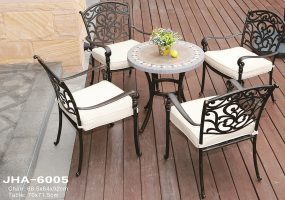Cast Aluminum Dining Set,  JHA-6005