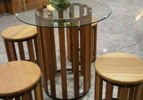 Balau Restaurant Furniture , KTS-11