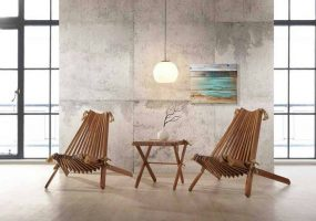 Designer Chair Set , Balau Wood, KTS-02