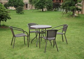 Molded Wicker Design Patio Set, JHA-002