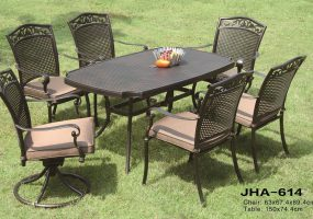 Cast Aluminum Outdoor Dining Set , JHA-614