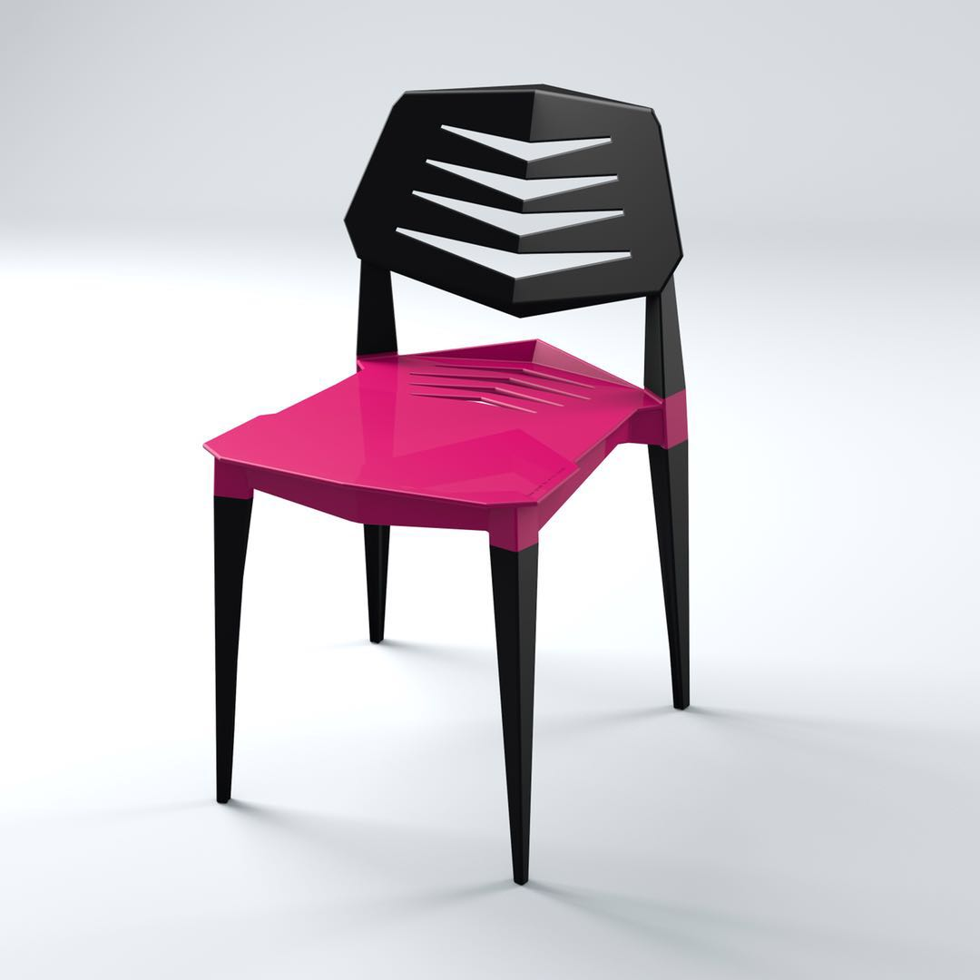 Designer Chair,Restaurant Chair ,fuschia