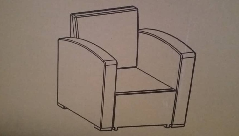 molded single seat sofa