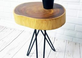 Acacia Slab Side Table, KTS-20