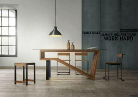 Balau Wood Designer Table, KTS-15A