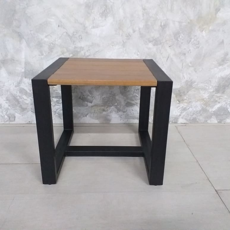 metal with balau top side table