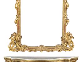 Ocean Mael Mirror With Console, JD-341