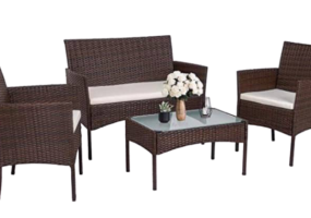 Monicas Wicker Patio Set, JHA-SDT004