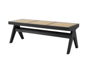 Accents French Bench With Natural Cane, JD-2028
