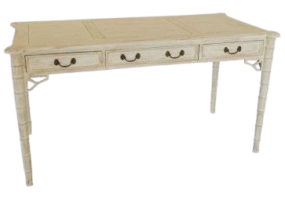 Aimee Designer French White Wash Writing Table, JD-184