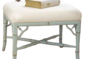 Aimee French Bamboo Design Ottoman, JD-2026