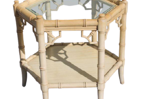 Aimee French Octogonal Side Table Bamboo Design, JD-188