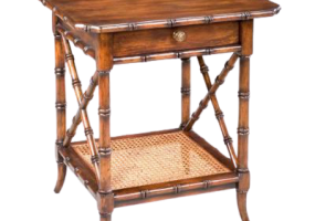 Aimee French Side Table With Natural Cane, JD-683