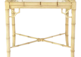 Aimee French  Side Table  With Glass Top, JD-684