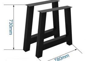 Trapezoid Dining Table Legs, KTS-132
