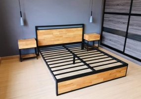 Custom Made Bed & Side Tables, RW-2001BS