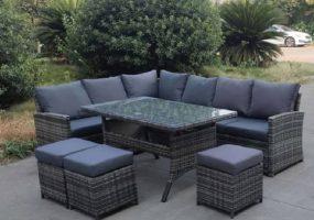 L Shape Wicker Sofa Set, JHA-18017