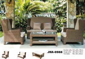 Patio Leisure Classic Rattan Sofa Set , JHA-0988
