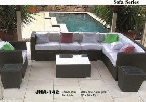 Sectional L Shape Wicker Sofa , JHA-142