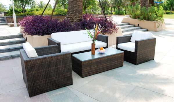 Isofu Modern Wicker Sofa Set