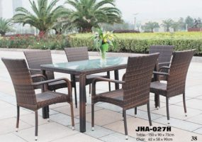 Wicker Dining Set , JHA-027H