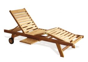 Teak Wood Sun Lounger , HC-003
