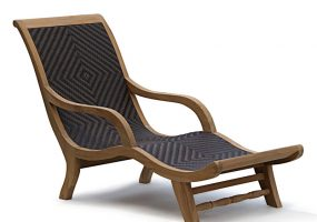 Riviera Teak Wood Sun Lounger , HC-301
