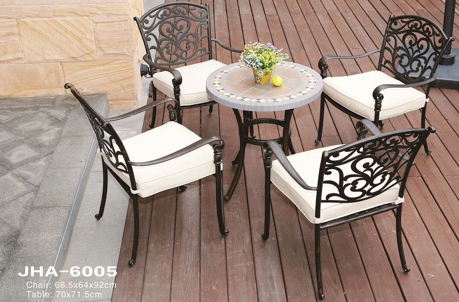 JHA-6005, Cast Aluminum Tiles dining set