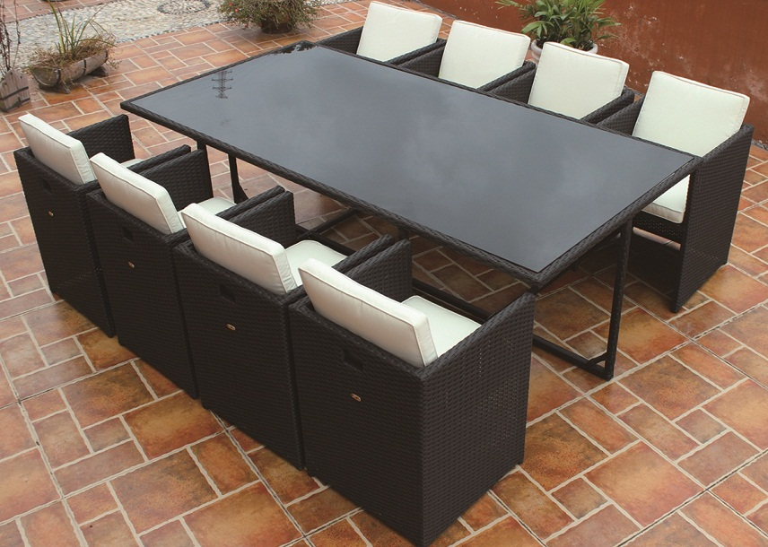 JHA-S118B, 8 Seater Space Saver Dining Set