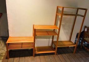 Wooden Balau Racks , KTS-10