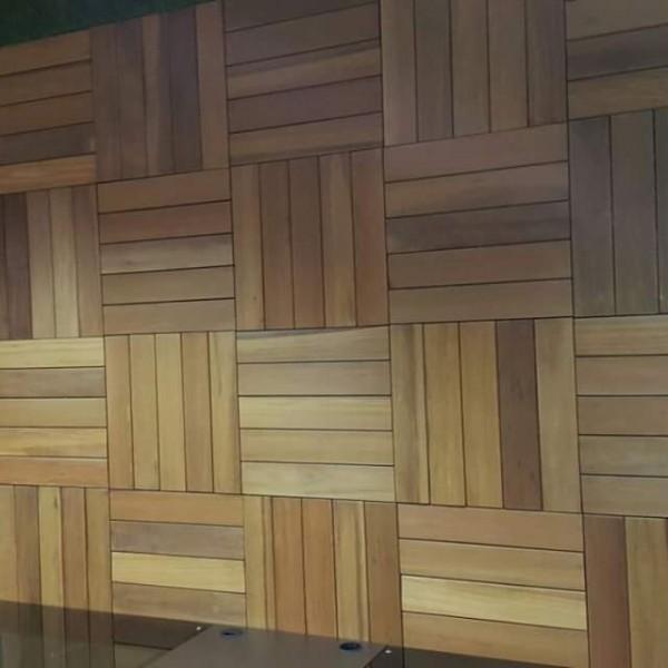 balau wood wall paneling