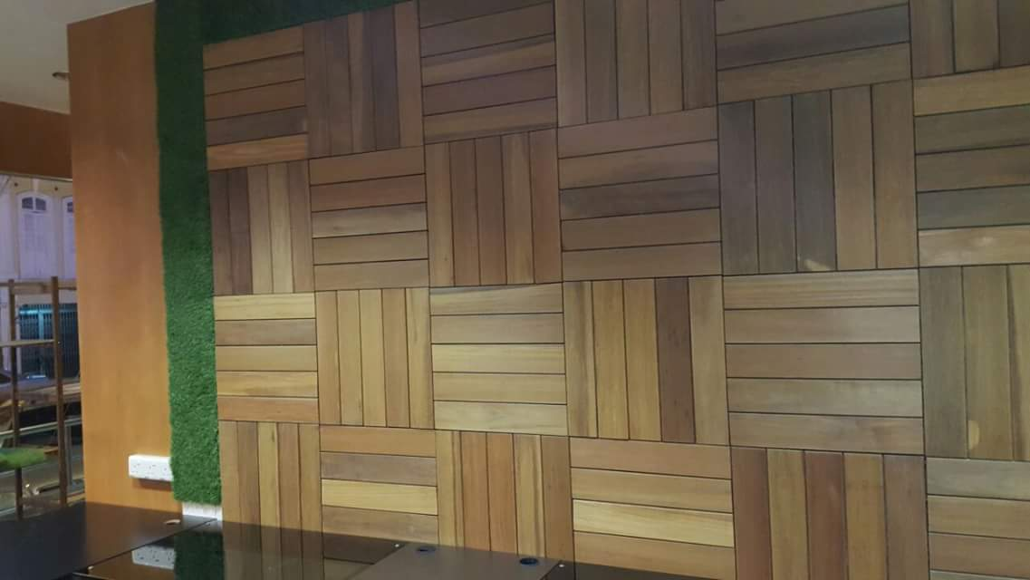 Wall Paneling Balau Wood Furniture