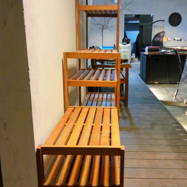 Balau wooden rack