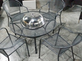 Barbarcue Fire Pit Table Set