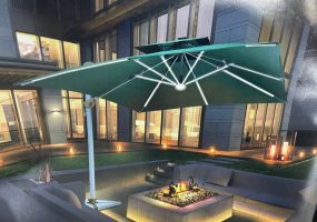 Cantilever Parasol With Led Light, JHA-0108