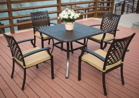 Cast Aluminum Square Dining Set, JHA-604