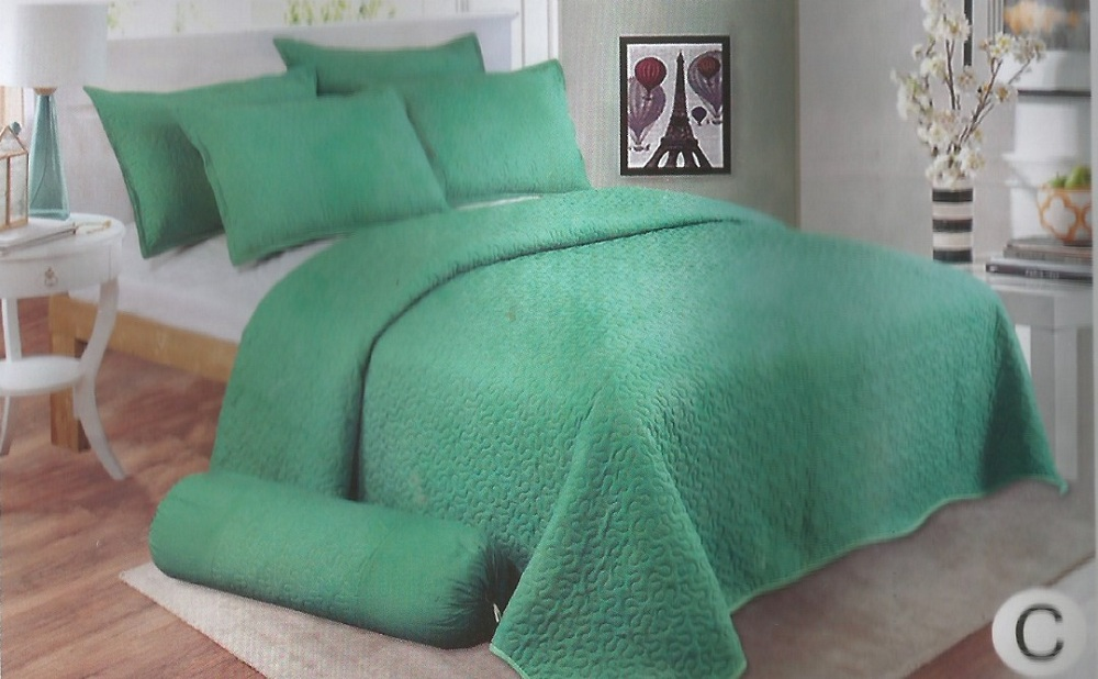 bed sheet ,green