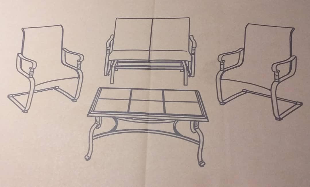 Die Casting Aluminum Sofa Set