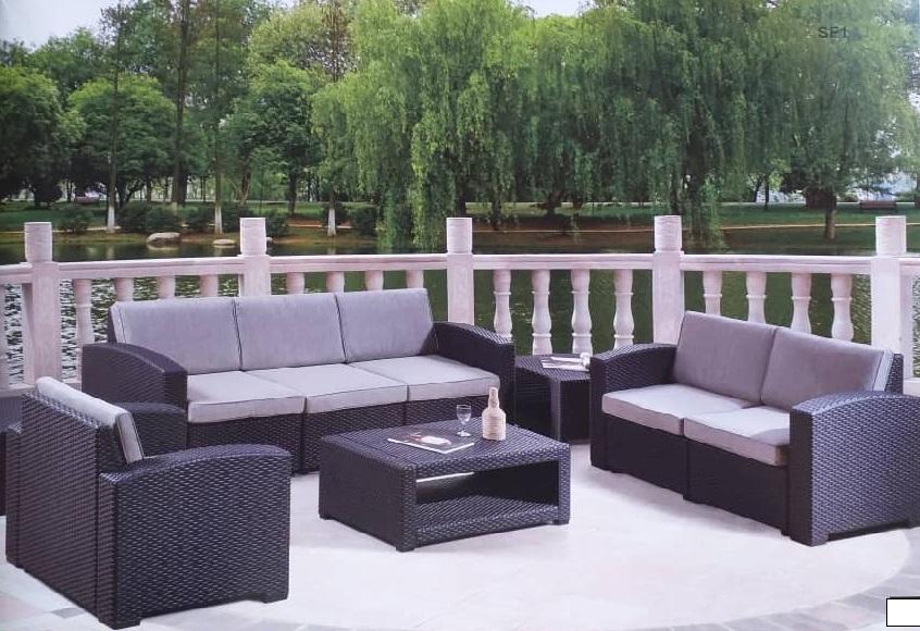 Molded Wicker Design Sofa set